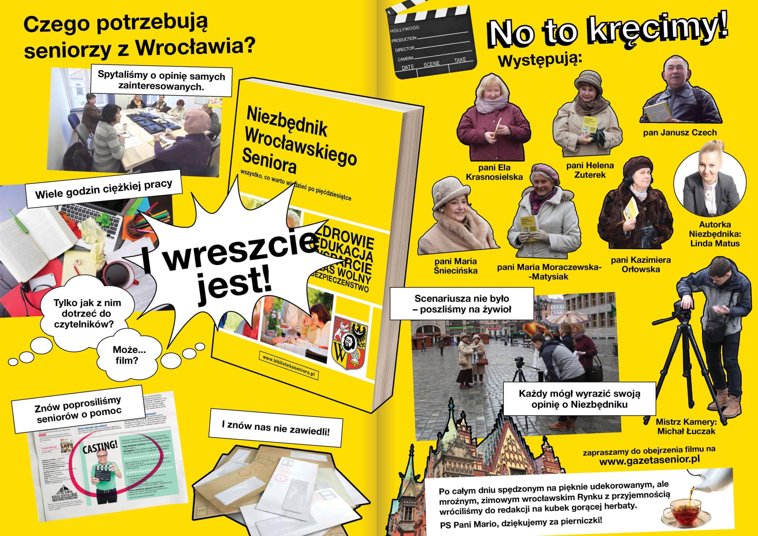 Kulisy filmu o Niezbędniku Wrocławskiego Seniora