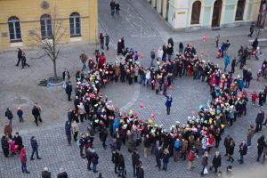 Ogromne serce z zakochanych wrocławian – pokazali jak kochają swoje miasto!