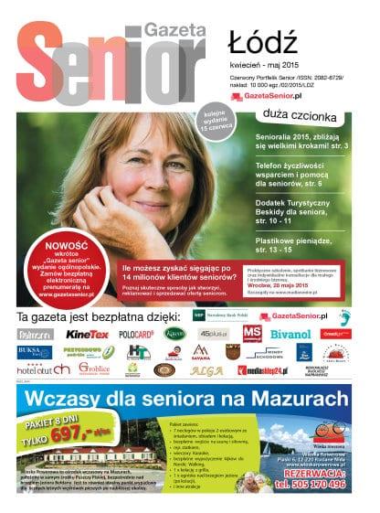 Gazeta Senior, Łódź, województwo łódzkie, kwiecień - maj 2015