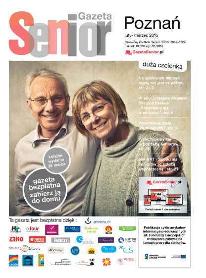 Gazeta Senior, Poznań i Wielkopolska, luty - marzec 2015