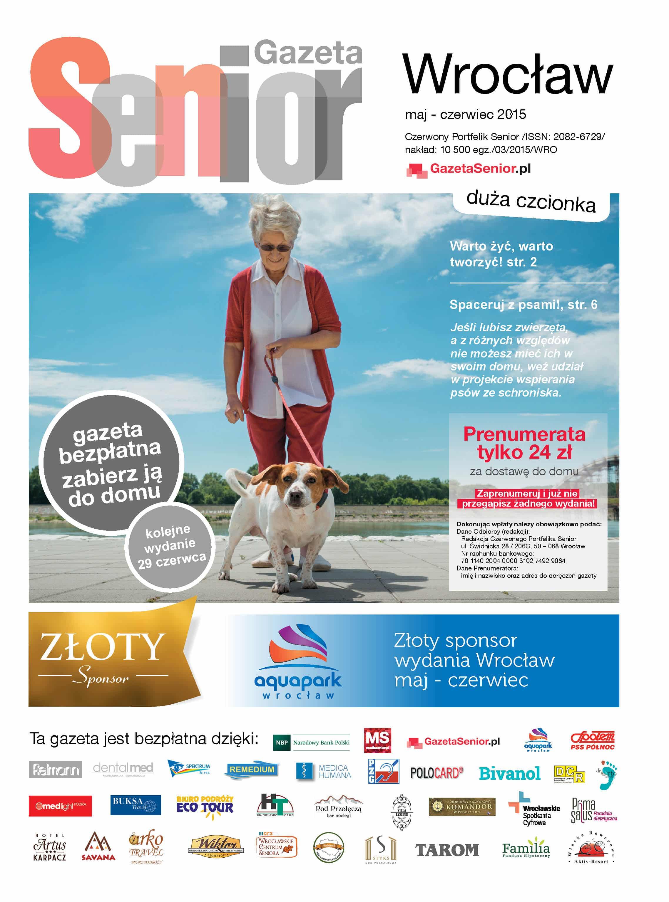 Gazeta Senior, Wrocław i Dolny Śląsk, maj - czerwiec 2015