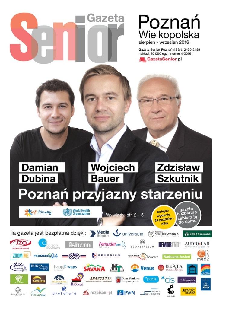 Okładka Gazeta Senior Poznań sie-wrze 2016