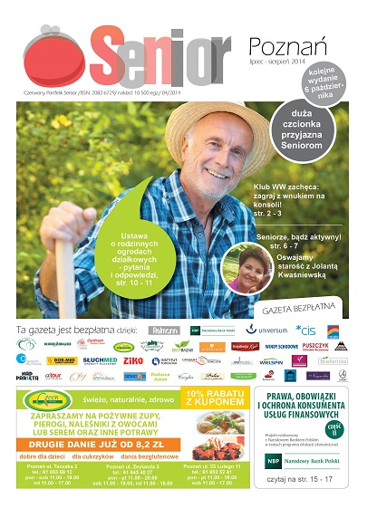 Gazeta Senior, Poznań i Małopolska, lipiec - sierpień 2014