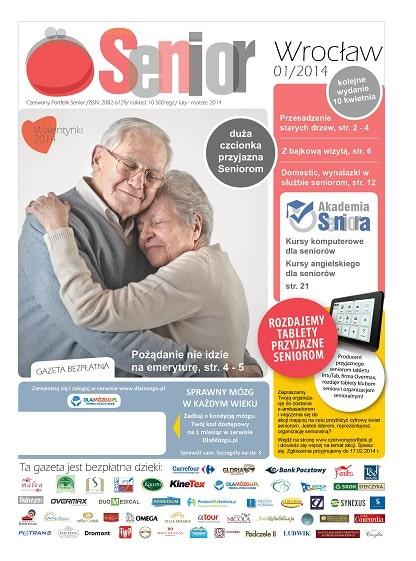 Gazeta Senior, Wrocław i Dolny Śląsk, luty - marzec 2014