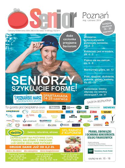 Gazeta Senior, Poznań i Wielkopolska, maj - czerwiec 2014