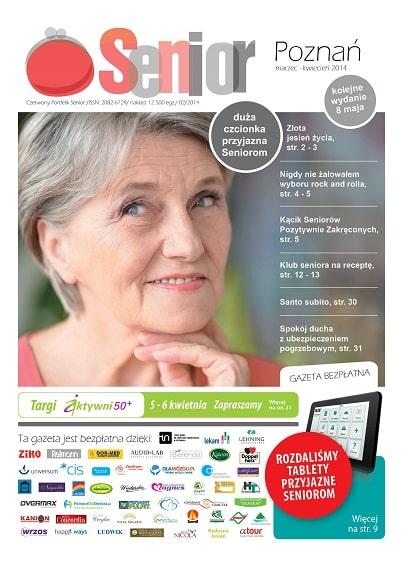 Gazeta Senior, Poznań i Wielkopolska, marzec - kwiecień 2014