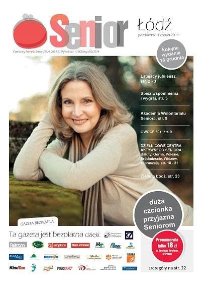 Gazeta Senior, Łódź, województwo łódzkie,październik - listopad 2014