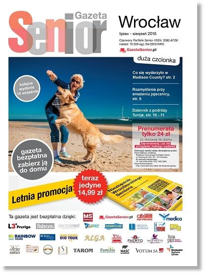 Gazeta Senior, Wrocław i Dolny Śląsk, lipiec - sierpień 2015