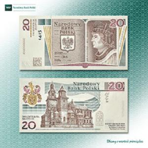 """Pierwszy banknot z kodem 2D ,,600. rocznica urodzin Jana Długosza"""""""