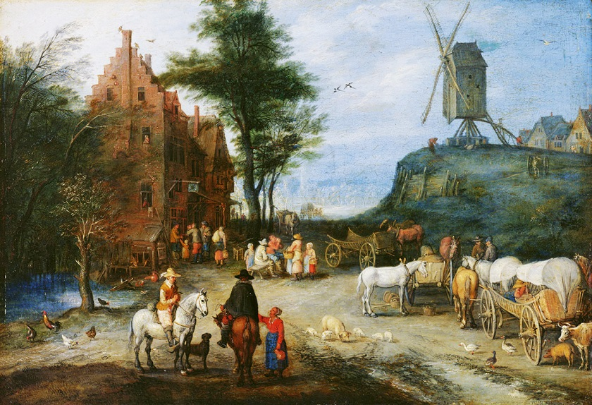 Jan_Bruegel_wiejska_ulica