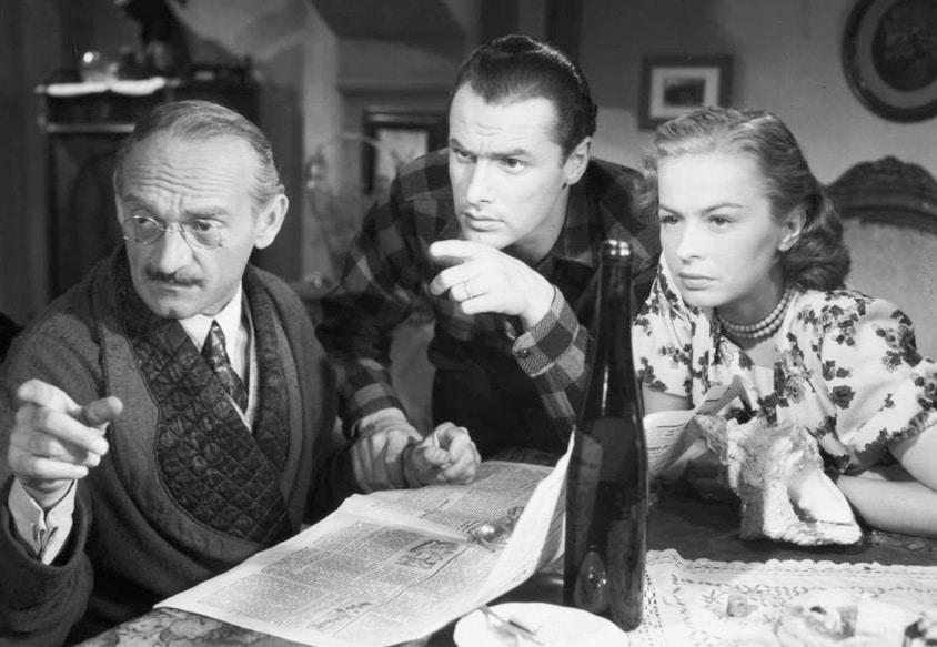 """Kadr z filmu """"Skarb"""" w reżyserii Leonarda Buczkowskiego, 1948"""