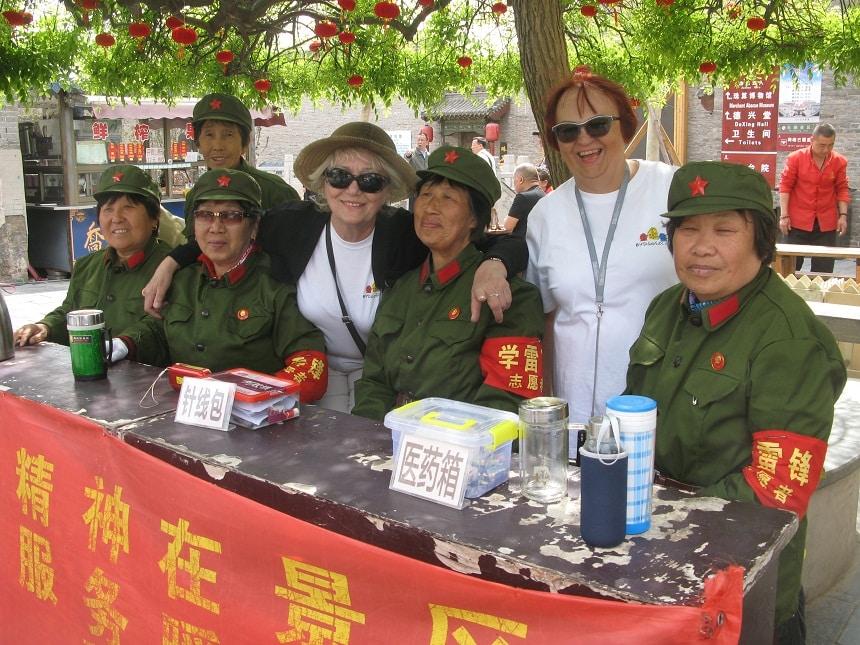 W Pekinie na każdym kroku można było spotkać żołnierzy Chińskiej Armii Ludowej