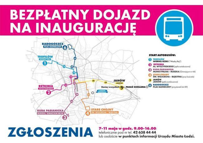 Bezpłatny Dojazd na Inauguracje V Łódzkie Senioralia