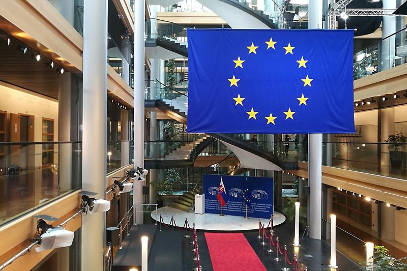 W Parlamencie Europejskim w Strasburgu