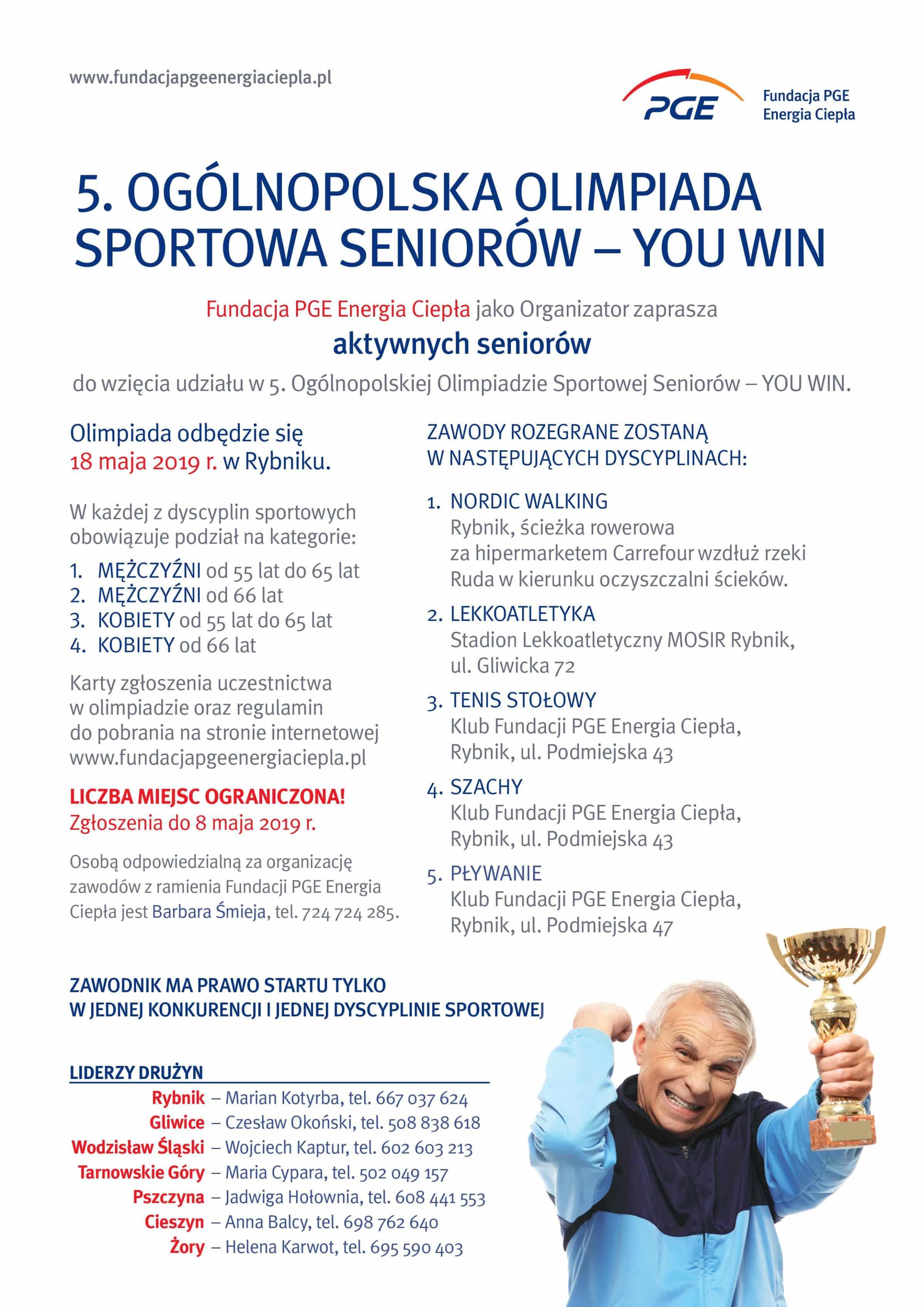 5. Ogólnopolska Olimpiada Sportowa Seniorów – You Win