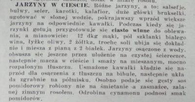 """Przedwojenne przepisy. Źródło: Tygodnik """"As"""" nr 6 z 9 lutego 1936 roku"""