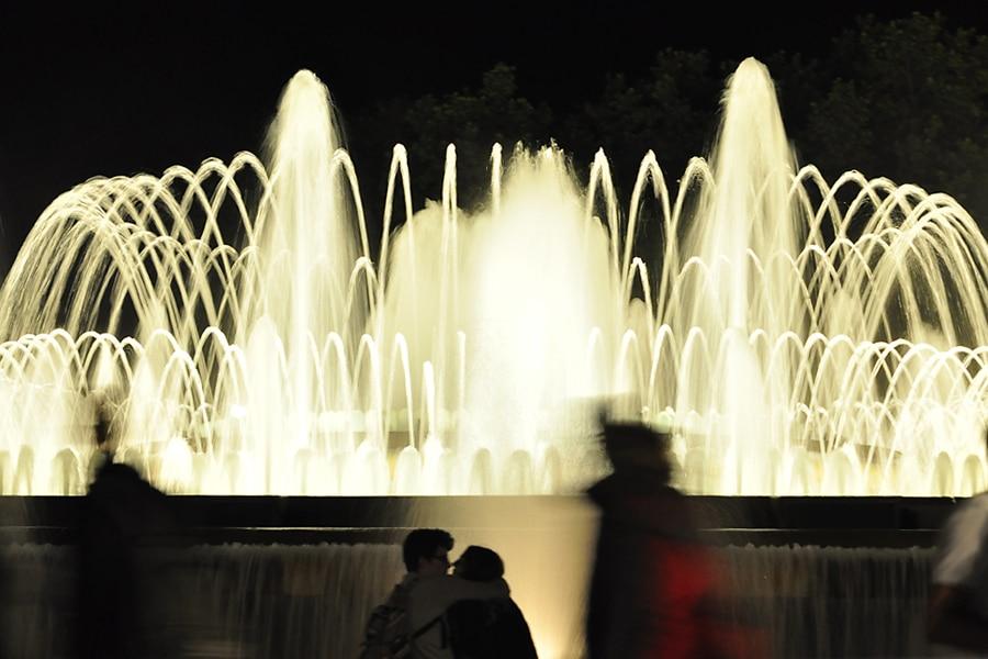 fontanna w Barcelonie