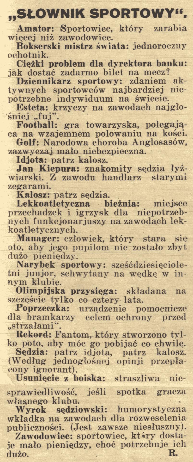 słownik sportowy