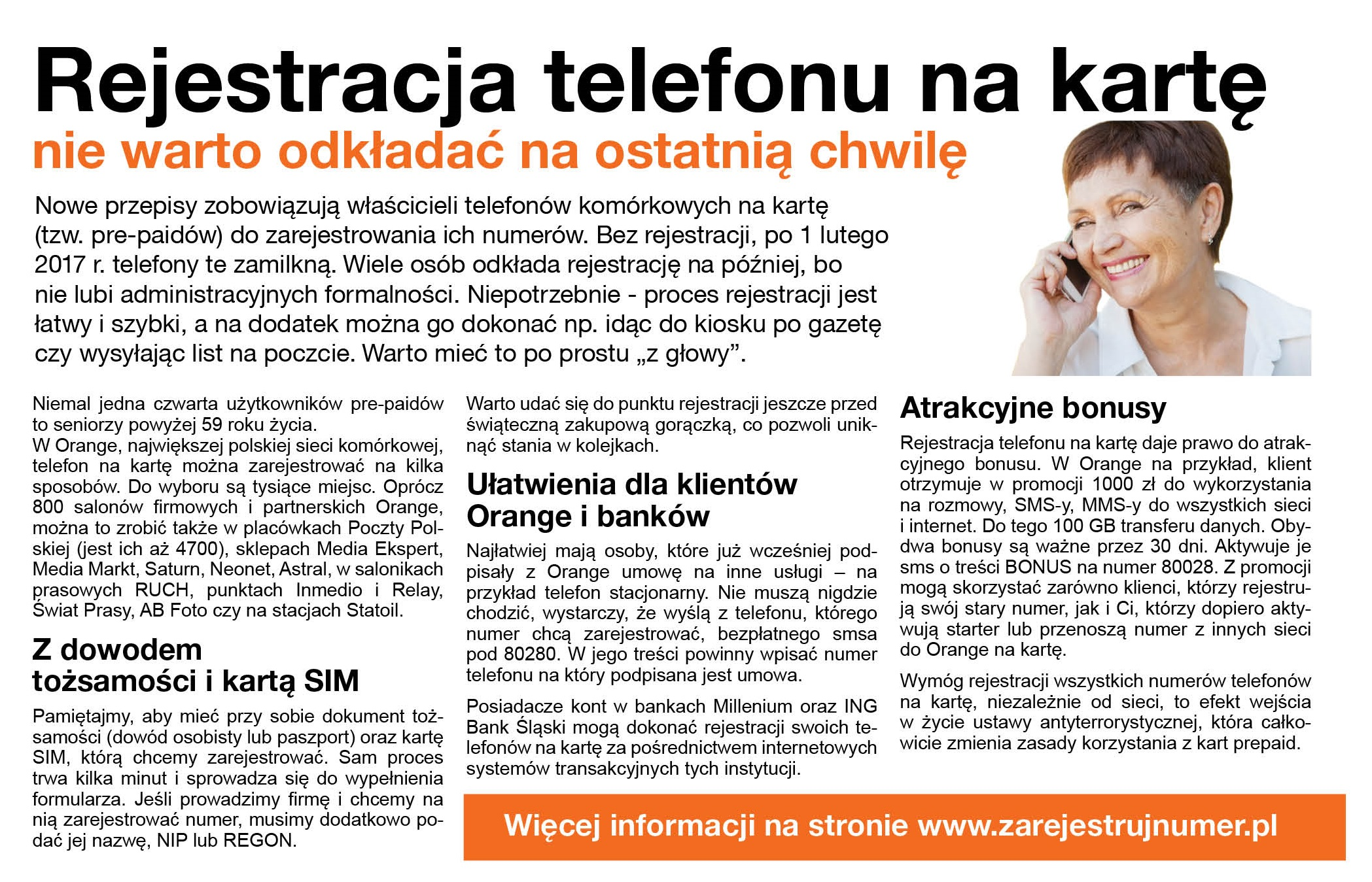 Orange_rejestracja telefonu na kartę