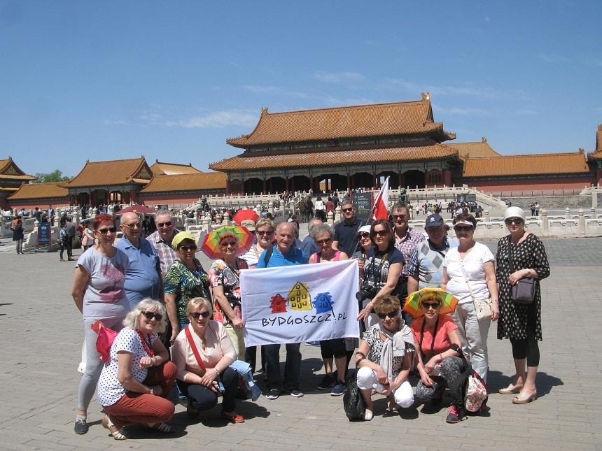Seniorzy Kazimierzowskiego Uniwersytetu Trzeciego z Bydgoszczy w Chinach