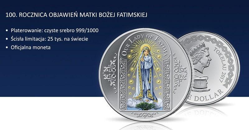 moneta jubileuszowa fatima_poziomo