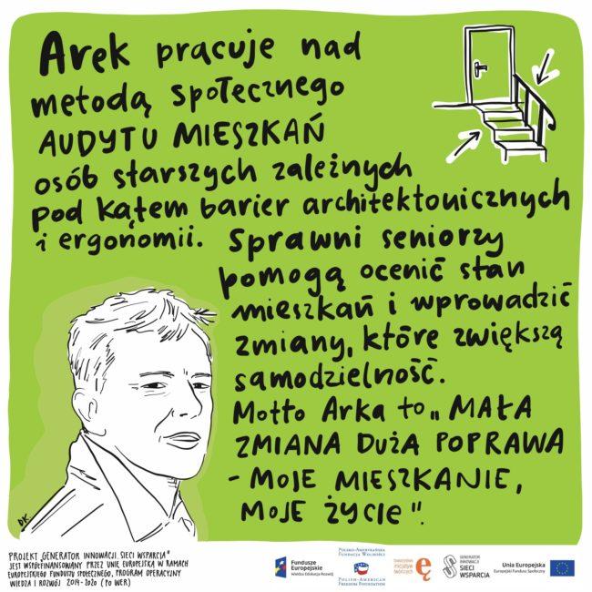 Projektanci i designerzy dla osób starszych. Arek - projekt Dorota Kostowska