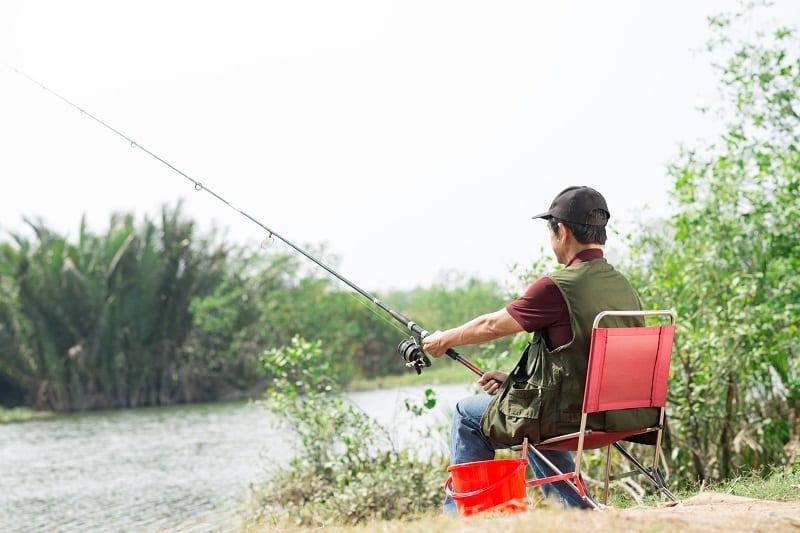 Calm fisherman