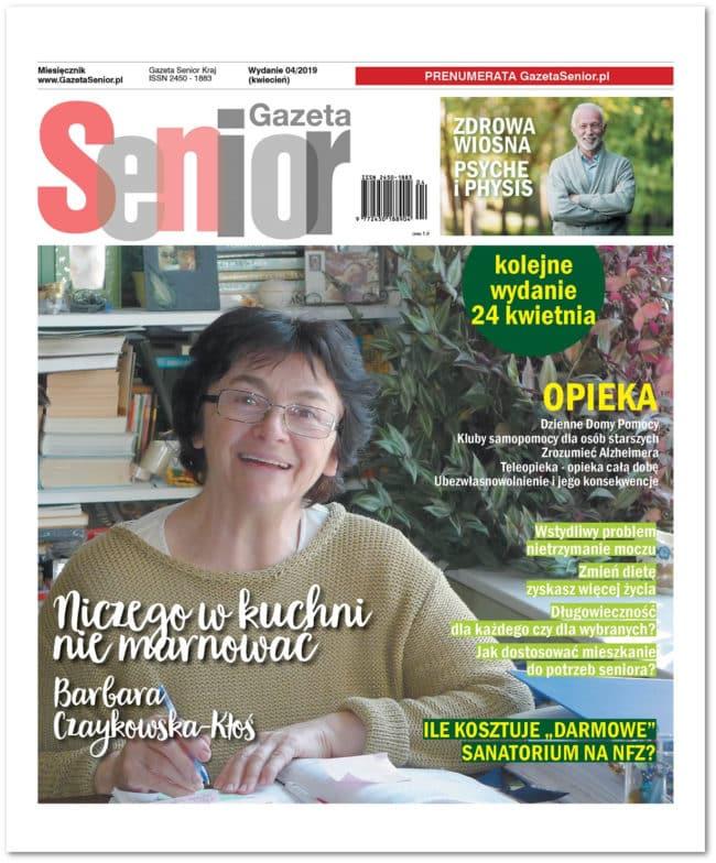 Gazety Senior kwietniowy numer (4/2019) okładka