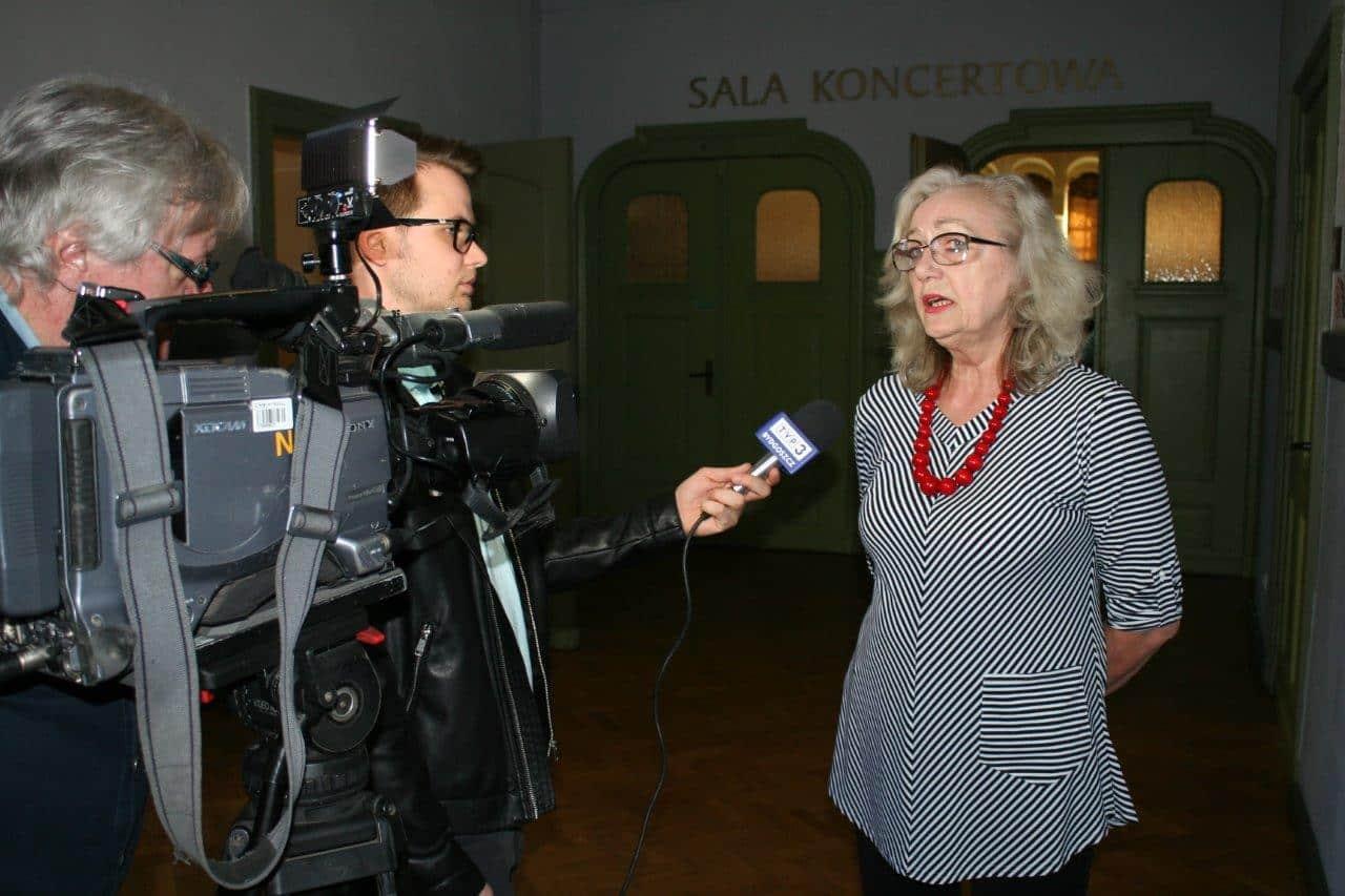 Bożena Sałacińska – przewodniczącej Rady Słuchaczy Kazimierzowskiego Uniwersytetu Trzeciego Wieku