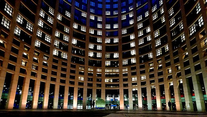 dziedziniec PE w Strasburgu, fot.©J.Dudzik