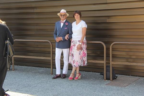 Jan Adamski z żoną (fot. Małgorzata Adamska)
