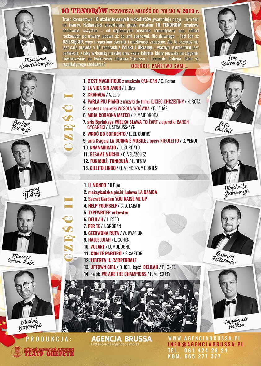 10 Tenorów program 2019