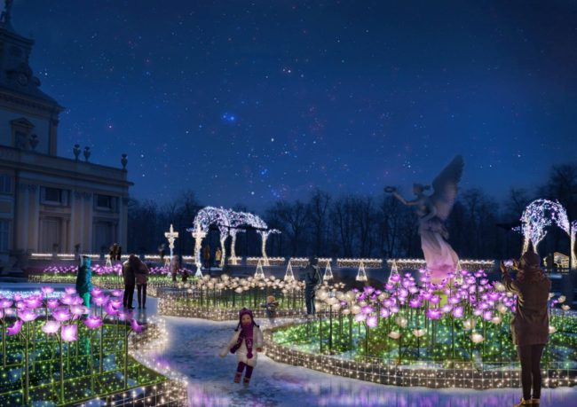 Królewski Ogród Światła w Wilanowie- Ogród Różany (wizualizacja)