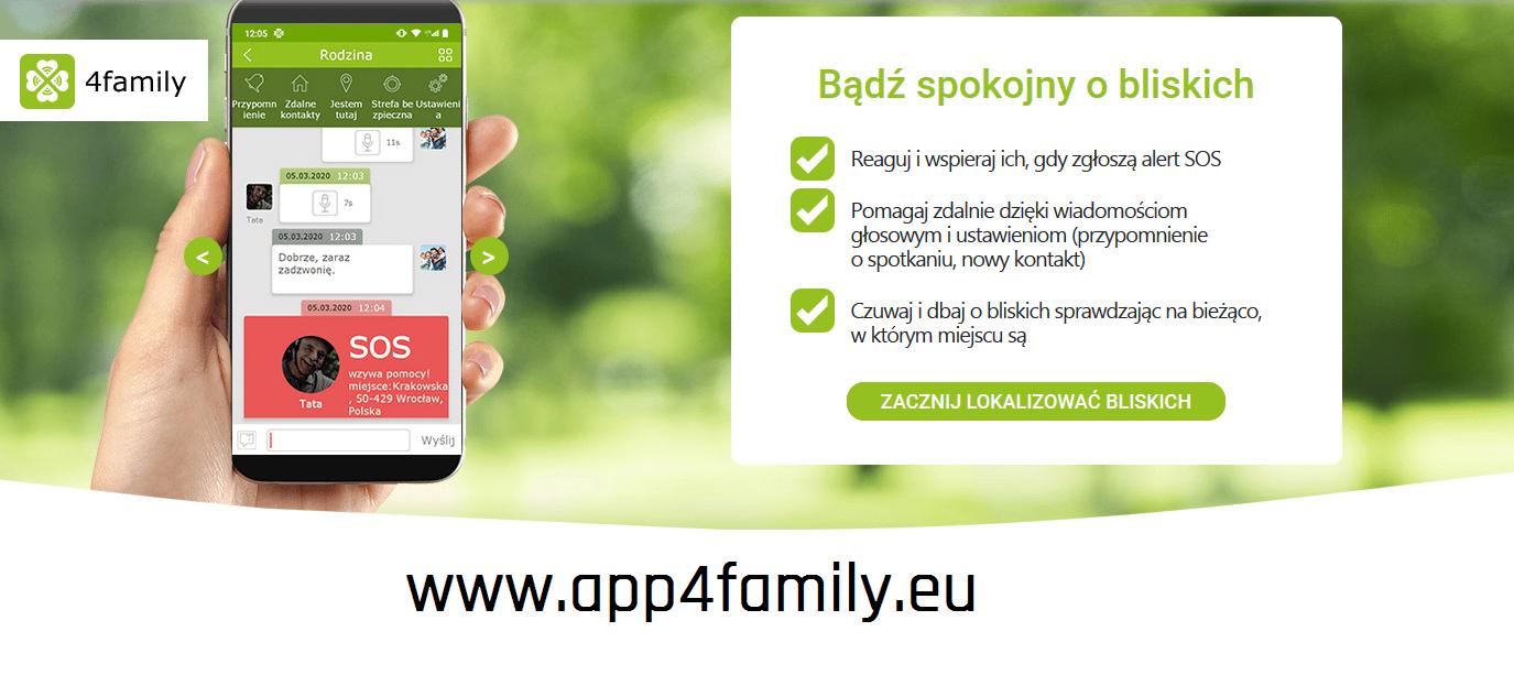 Telefon z aplikacją dla seniora myPhone Halo Q 4famili