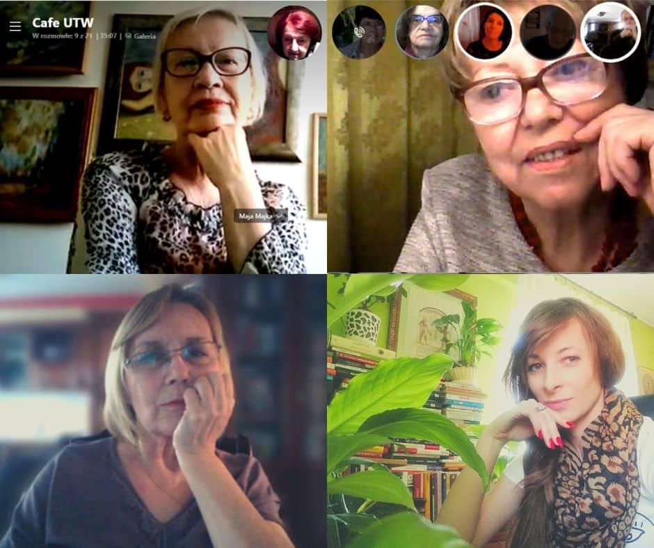 Rozmowy o książkach online. Seniorzy z Cafe UTW