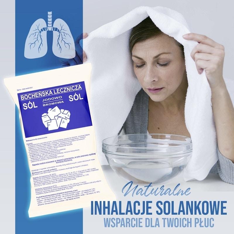Inhalacje solankowe. Bocheńska lecznicza sól jodowo bromowa
