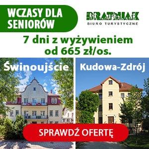 Reklama Bratniak Travel wczasy dla seniora