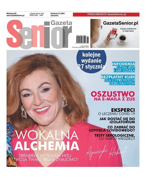 Gazeta Senior wydanie styczeń 2021 okładka