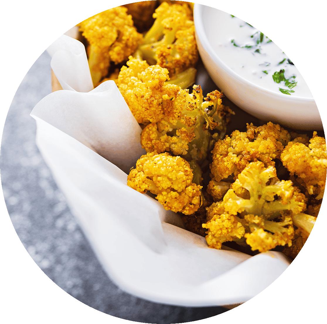 Curry z kalafiora w sosie kokosowym