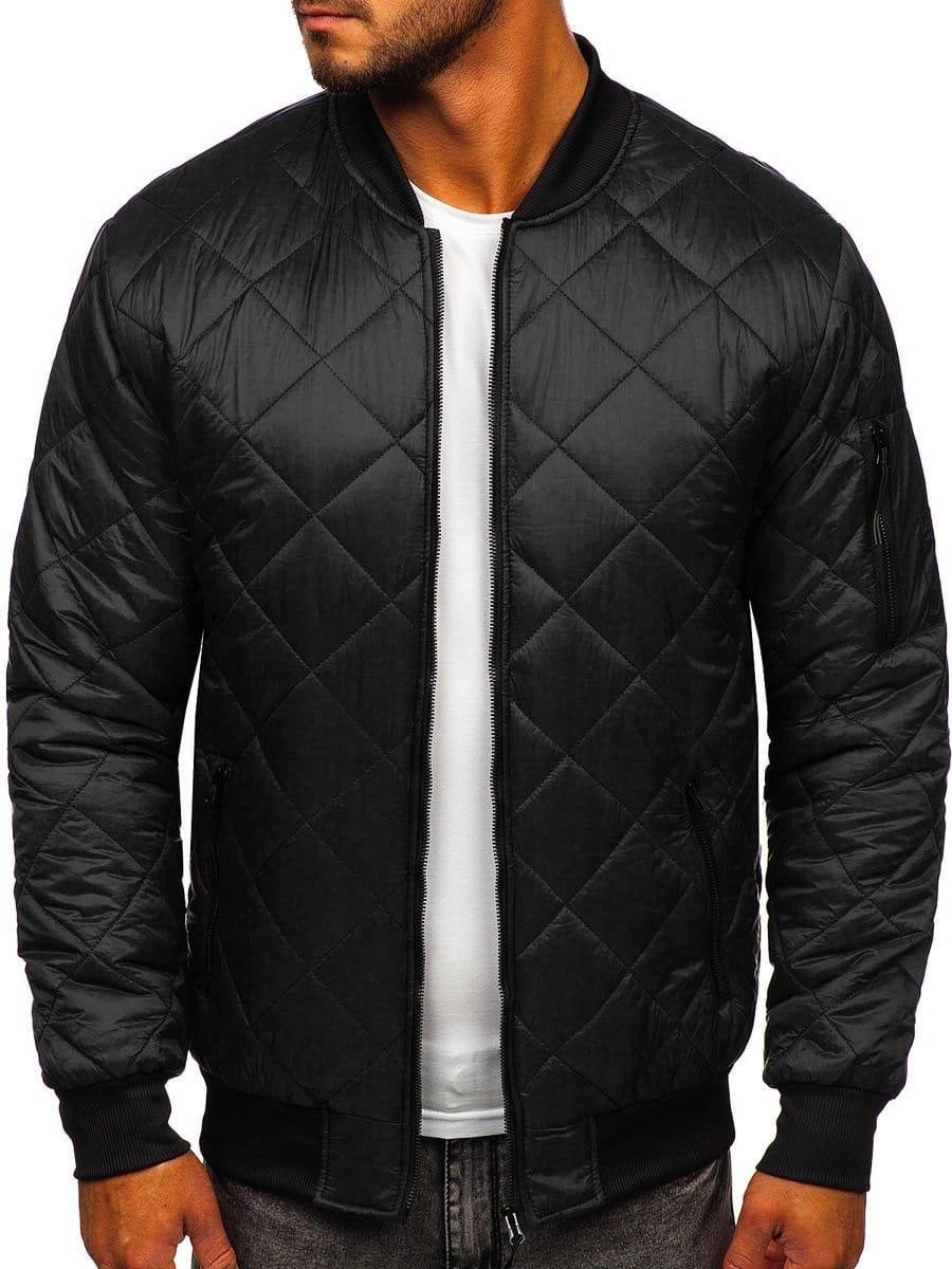 kurtka pikowana bomberka czarna